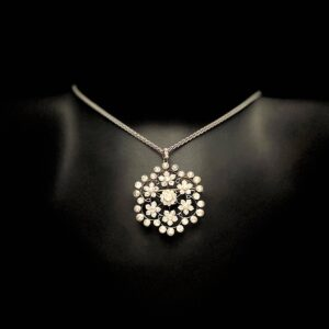 Antique Diamond Floral Pendant