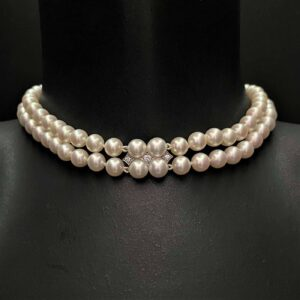 Aquamarine and Diamond Necklace with exceptional Pearls and a Pearl and Diamond Clasp