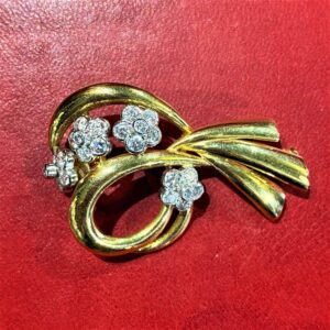 Diamond & Gold Brooch
