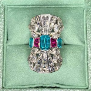 Paraiba Tourmaline & Diamonds Ring