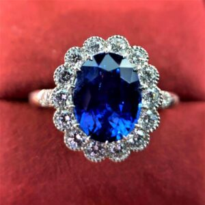 Sapphire and diamonds cluster